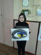 """Кришко Софія, учениця 4 класу, учасниця конкурсу """"Намалюй захиснику"""""""